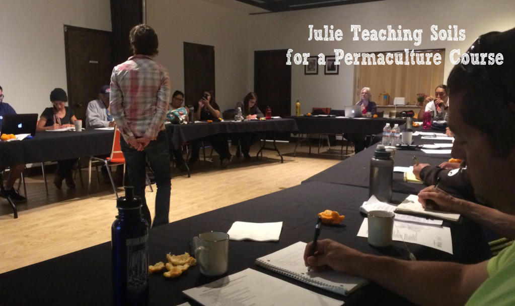 Our Founder Julie Teaching at a Permaculture Course