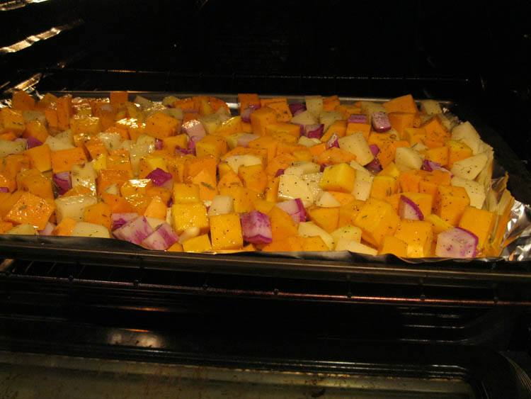 Roasted Vegetables in oven